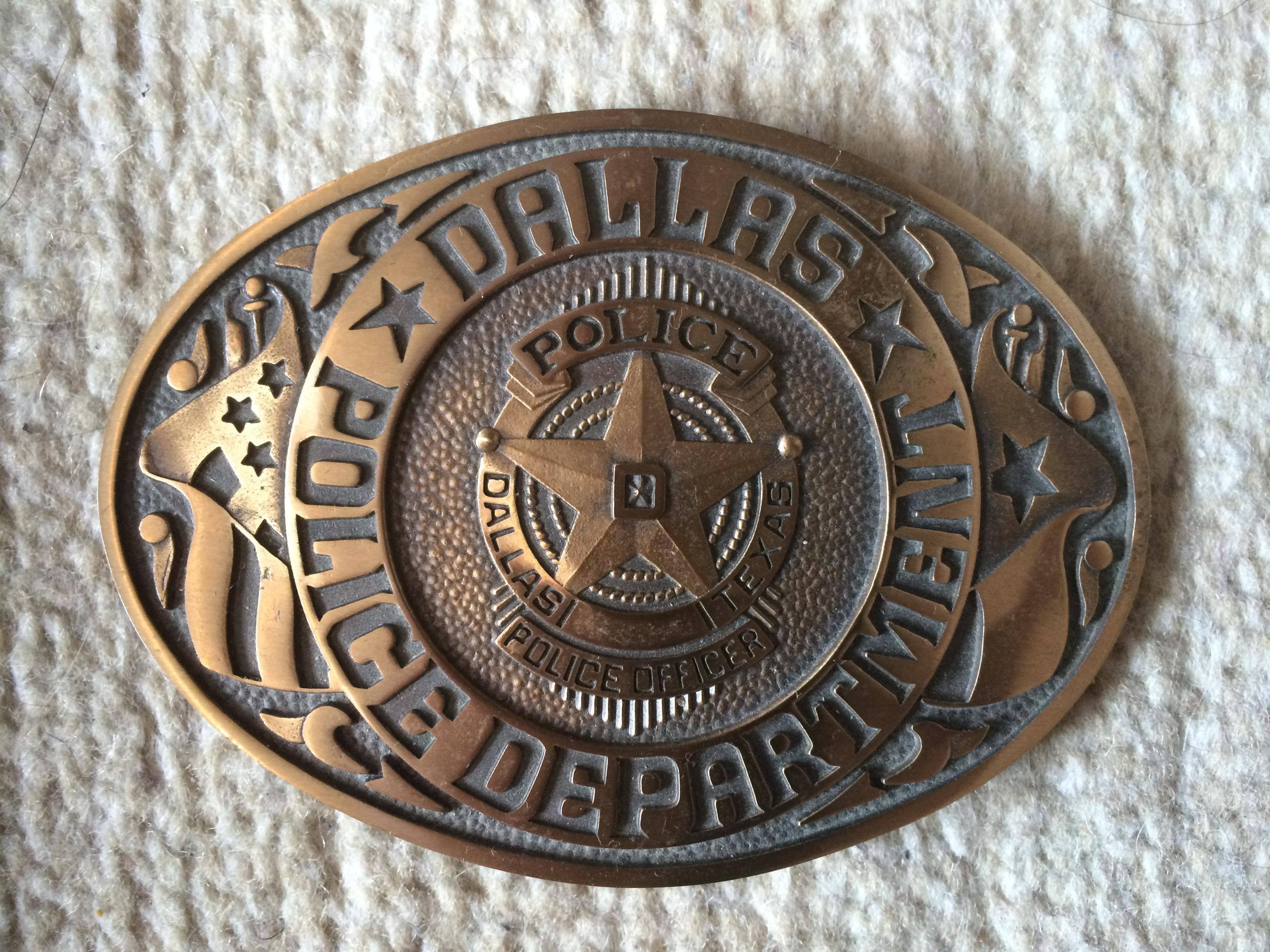Dallas Police Buckle. Pic. Barto