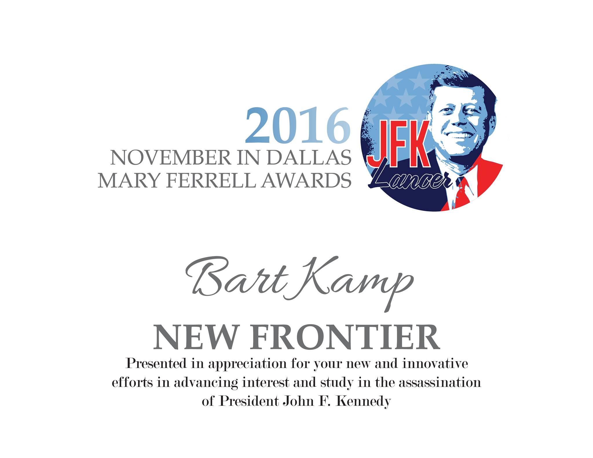 Bart-Kamp-JFK-Lancer-New-Frontier-Award-